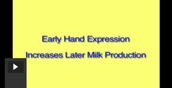 Hand Expression Increases Later Milk Production